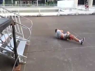 Skateboarding Trick Gone Wrong