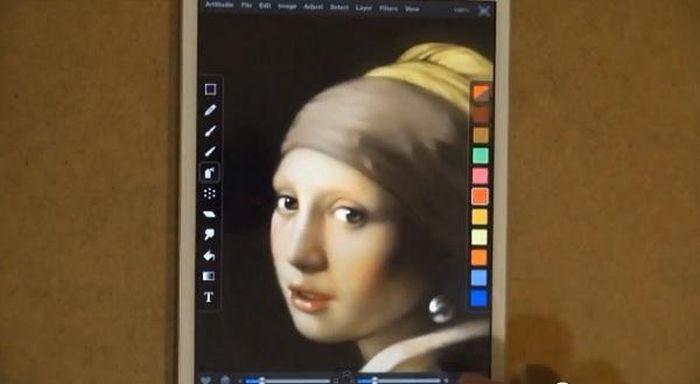 iPad Mini Reproduction of Girl with Pearl Earring (13 pics)