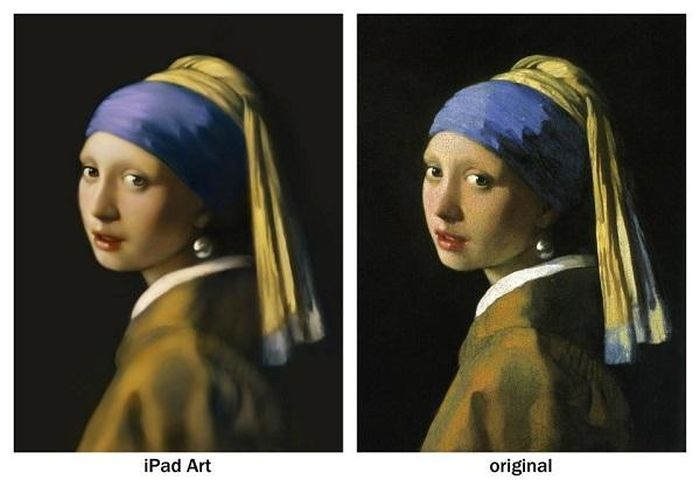 iPad Mini Reproduction of Girl with Pearl Earring (13 pics)