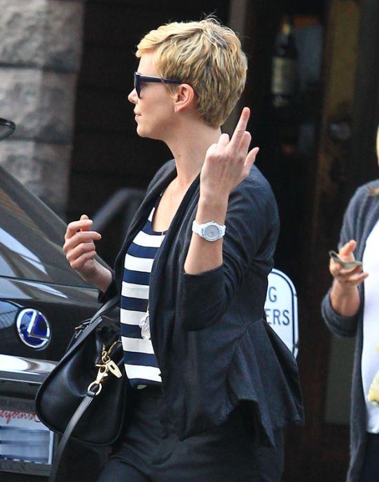 Celebrities Show Middle Fingers (43 pics)