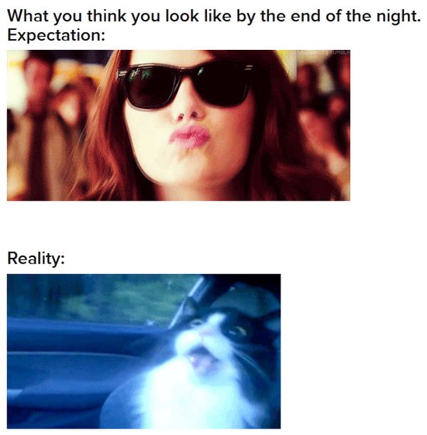 Going Out: Expectation Vs. Reality (43 gifs)