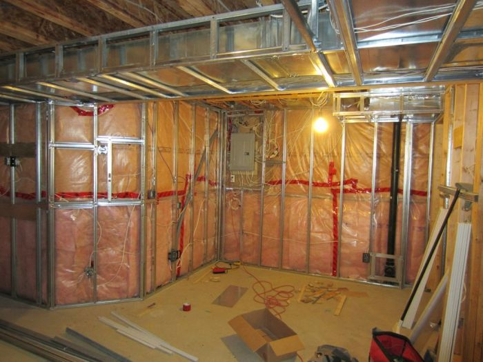 basement reconstruction job 48 pics