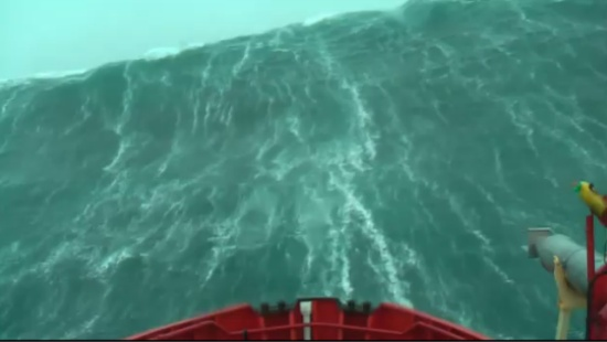 Huge Storm Waves vs Ship