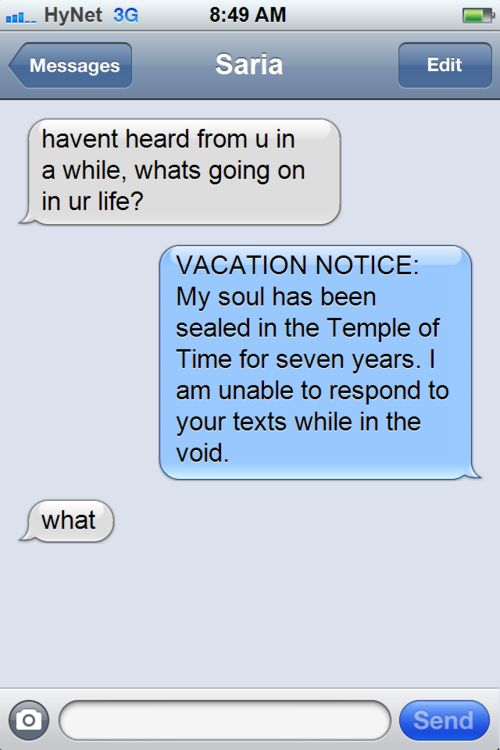 Texts From Zelda (10 pics)