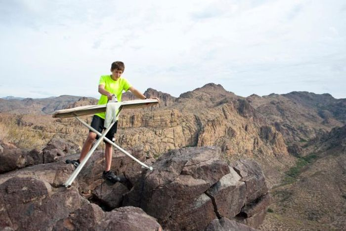 Boy Who Loves Extreme Ironing (21 pics)