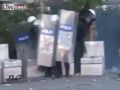 Riots in Ankara, Turkey