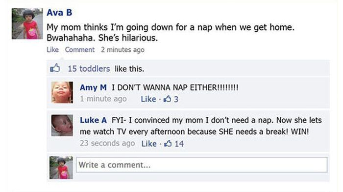 Toddlers on Facebook (10 pics)