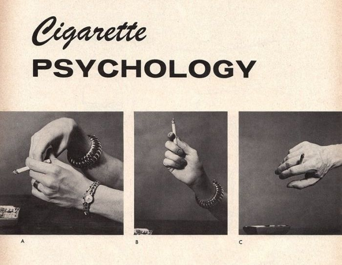 The Psychology Of Holding A Cigarette (2 pics)