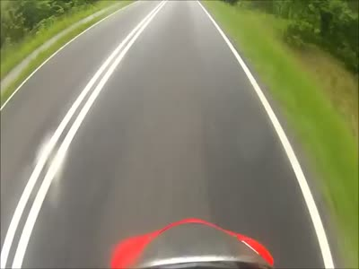 Biker Close Call at High Speed