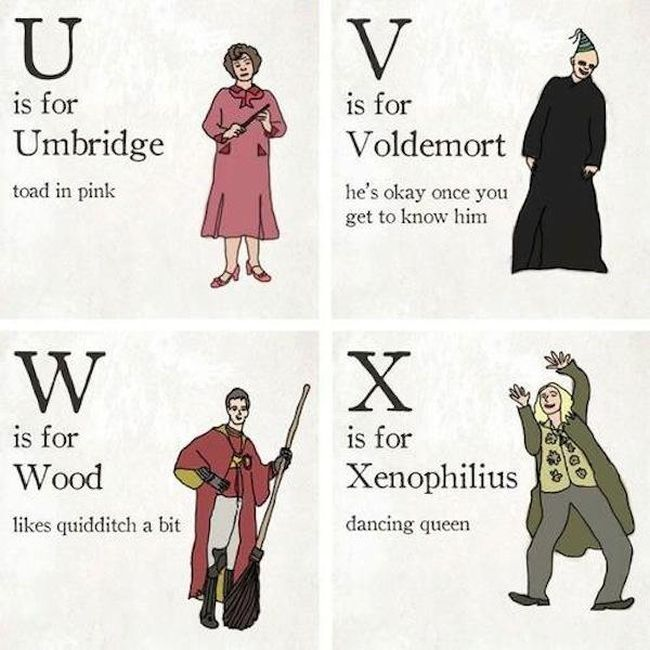 The Harry Potter Alphabet (7 pics)