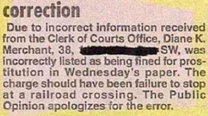 Newspaper Corrections (24 pics)