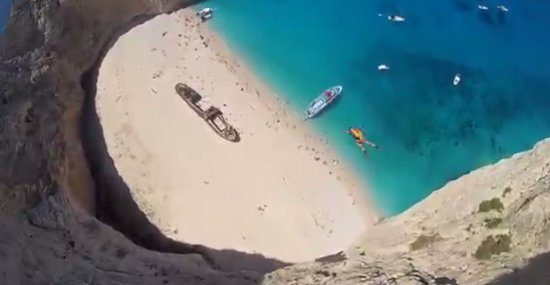 Amazing Base Jump in Greece