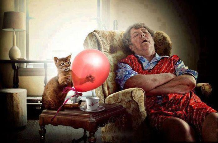 баба спит фото