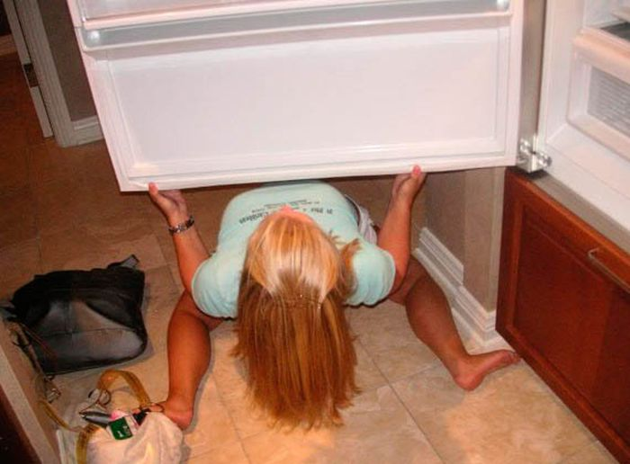 Hot Girls And Fridges (63 pics)