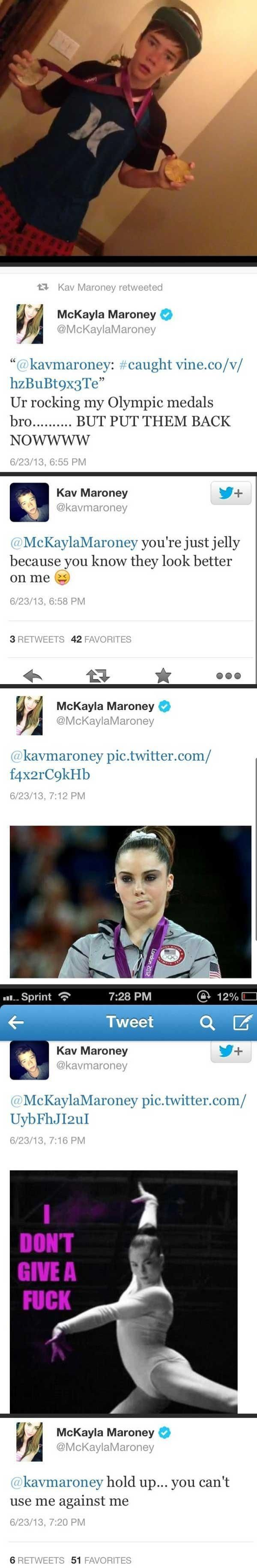 McKayla Maroney vs Her Brother (6 pics)
