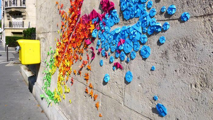 Origami Street Art (22 pics)