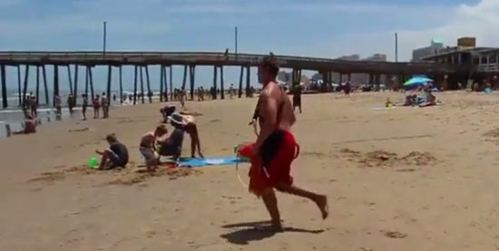 Hilarious Beach Lifeguard Fail