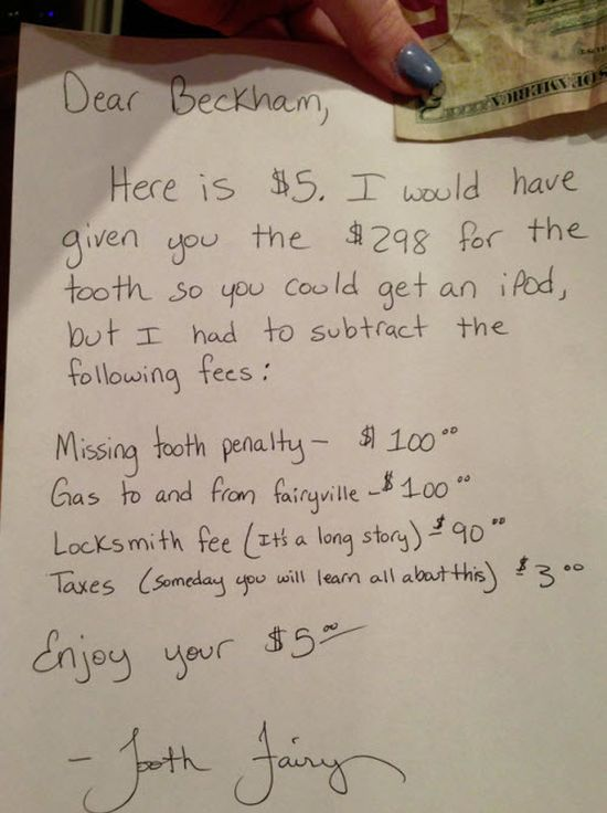 Dear Tooth Fairy (2 pics)