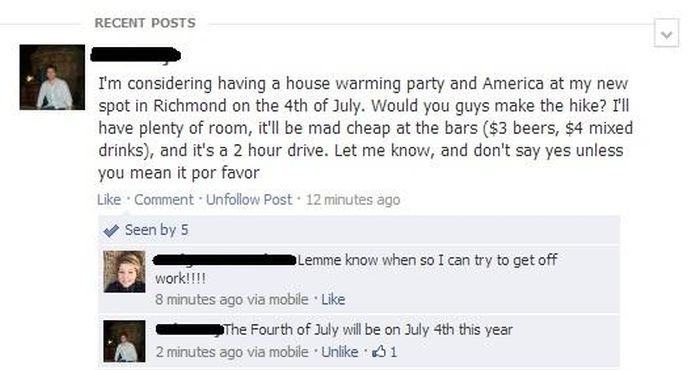 Dumb Things on Facebook. Part 2 (19 pics)