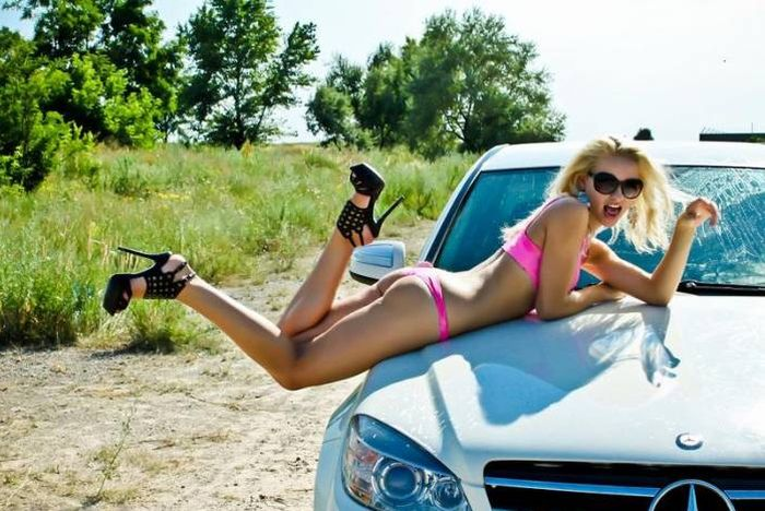 Girls and Cars. Part 6 (48 pics)