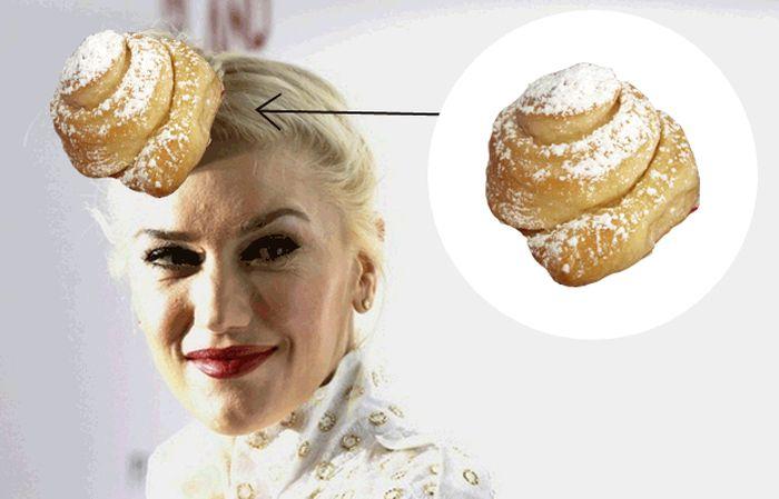 Gwen Stefani Has Bread Hair (9 gifs)
