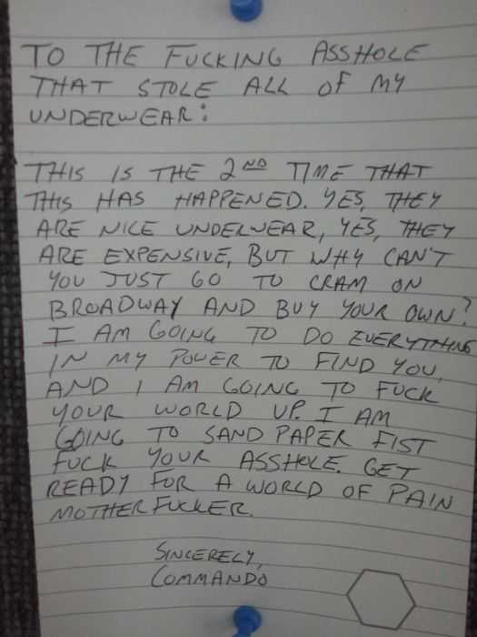 Angry Notes From Victims of Theft (21 pics)
