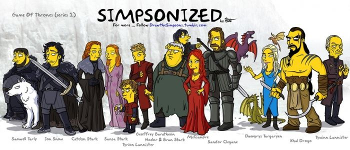Simpsonized 'Game of Thrones' Characters (13 pics)
