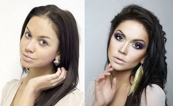 With and Without Makeup (12 pics)