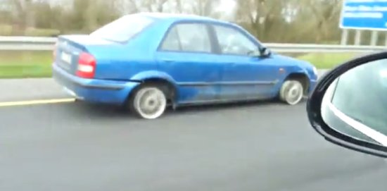 Driving Car Without Tires