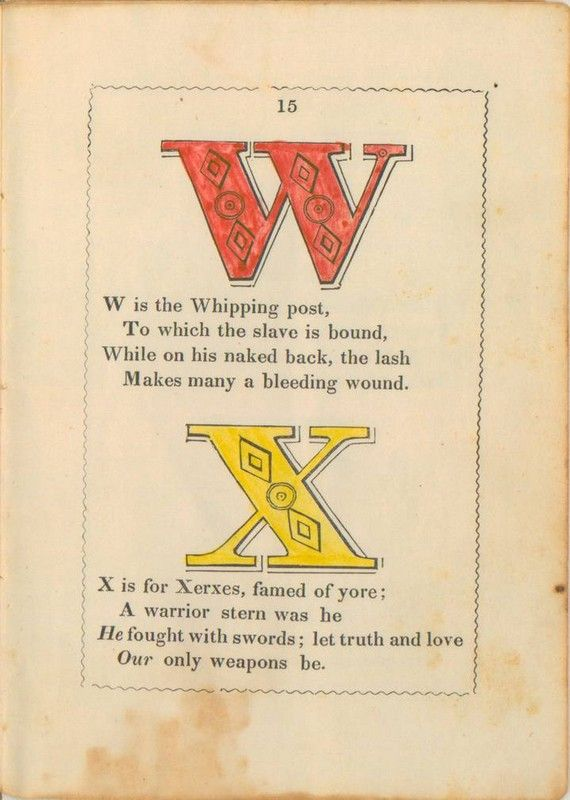 The Anti-Slavery Alphabet (15 pics)