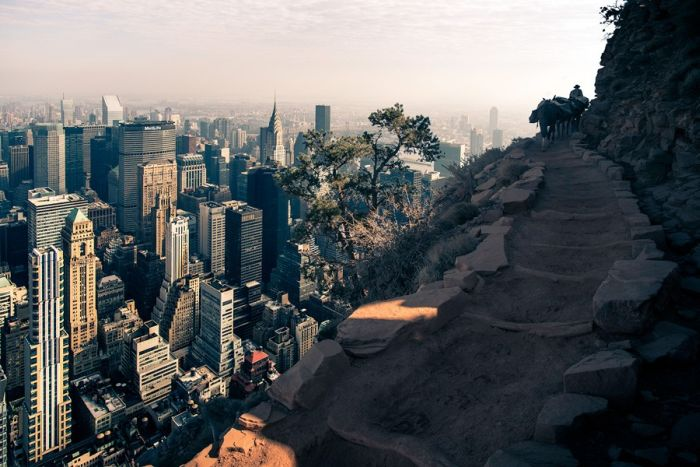 If Manhattan Was Located in Grand Canyon (6 pics)