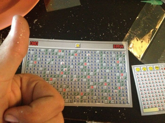 Minesweeper Scratch Off Postcard (8 pics)