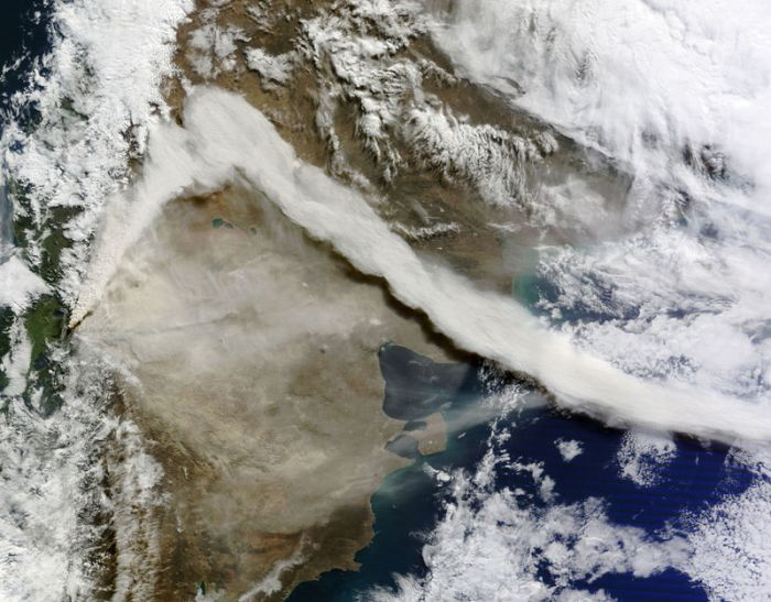 Volcanic Eruptions as Seen from Space (15 pics)