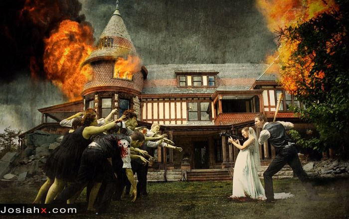 Crazy Wedding Party Attack Pictures (7 pics)