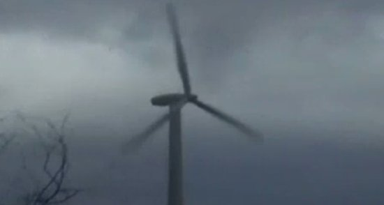Windmill Destroyed By Storm