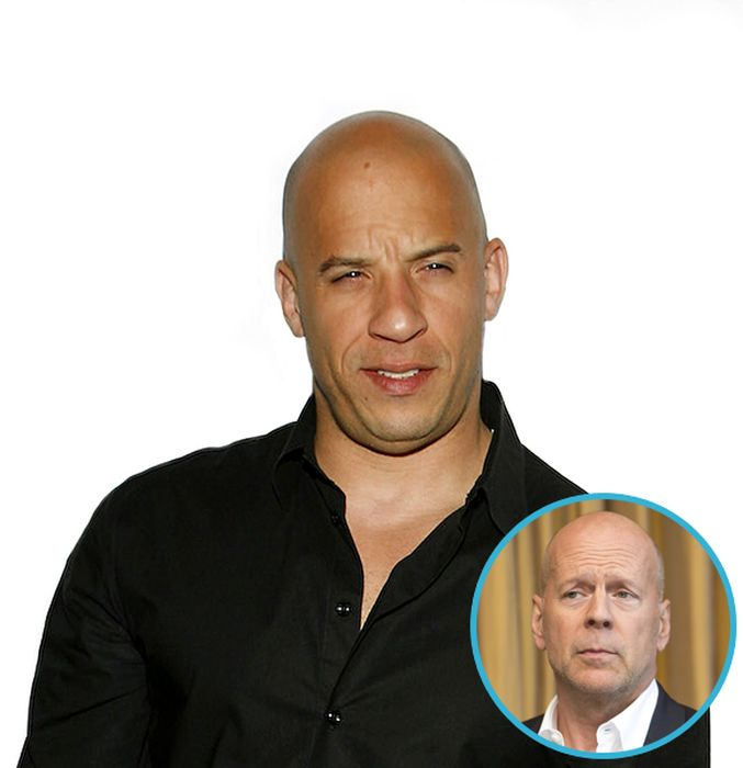 Vin Diesel With Other Celebrities' Hair (13 pics)