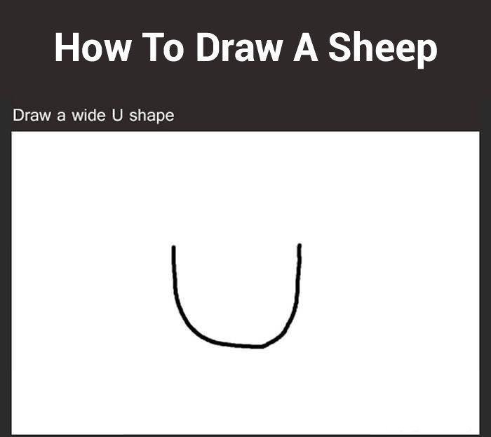 How to Draw a Sheep (7 pics)