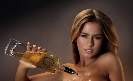 Liquor Poured Over A Playmate's Chest (7 pics)
