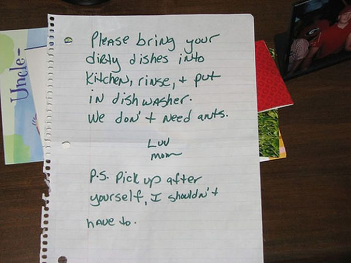 Notes from Parents (23 pics)