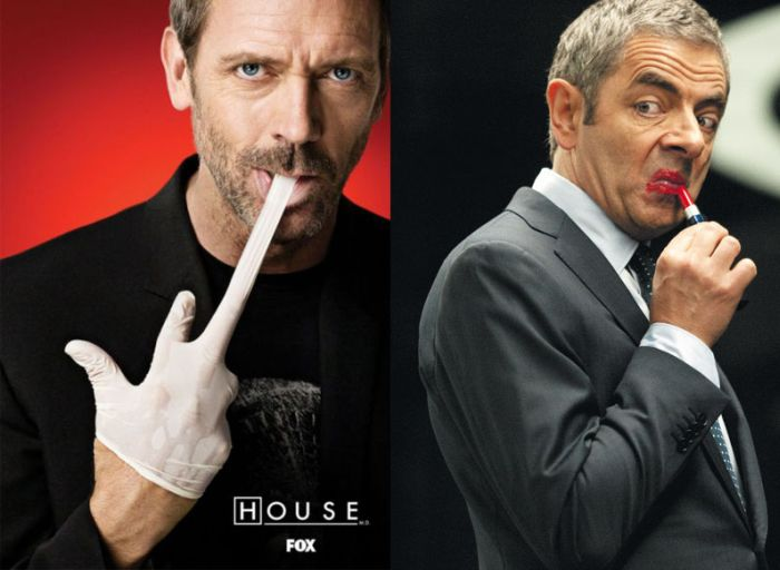 Dr House and Mr Bean (3 pics)