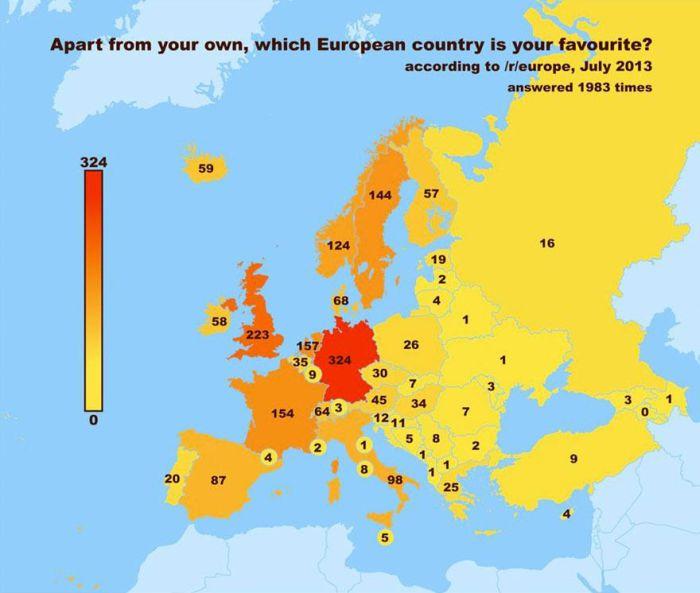 European Redditors Chose Their Favorite Countries (6 pics)