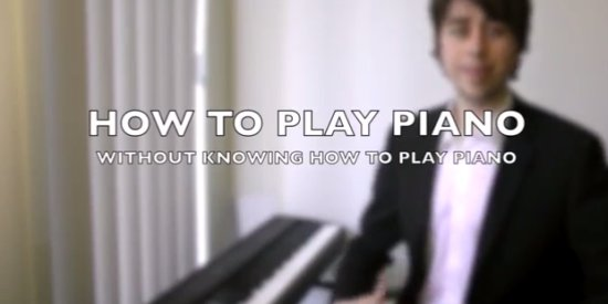 Life Hack on How to Play Piano