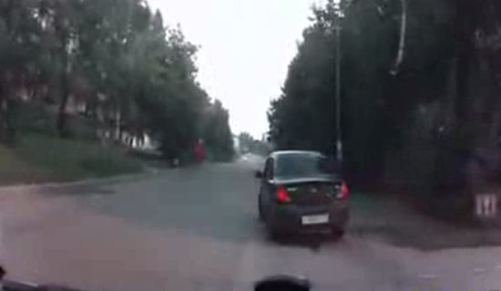 Horn Scares Driver And Causes Crash