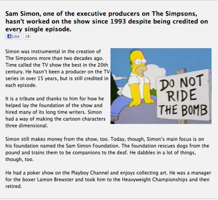 Interesting Facts about The Simpsons (8 pics)