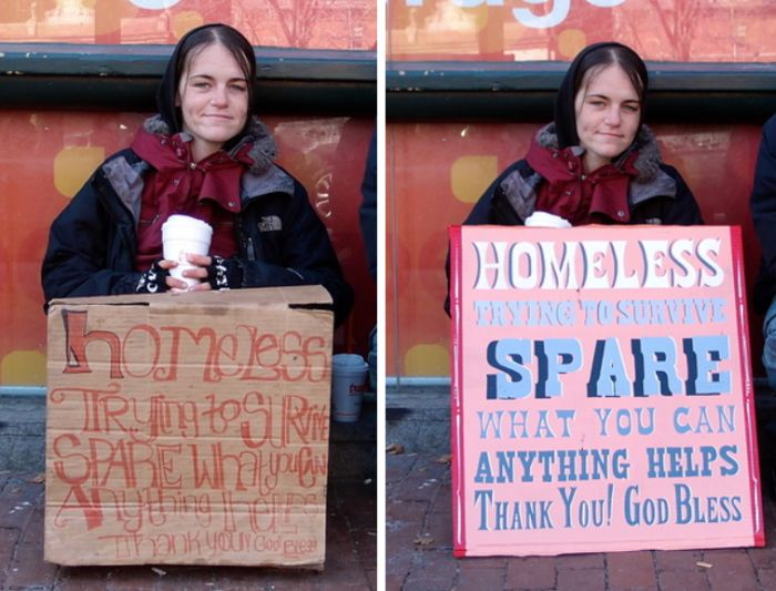 Hand-Painted Signs for Homeless People (12 pics)