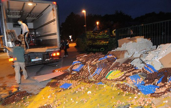 100,000 Eggs Smashed (10 pics)