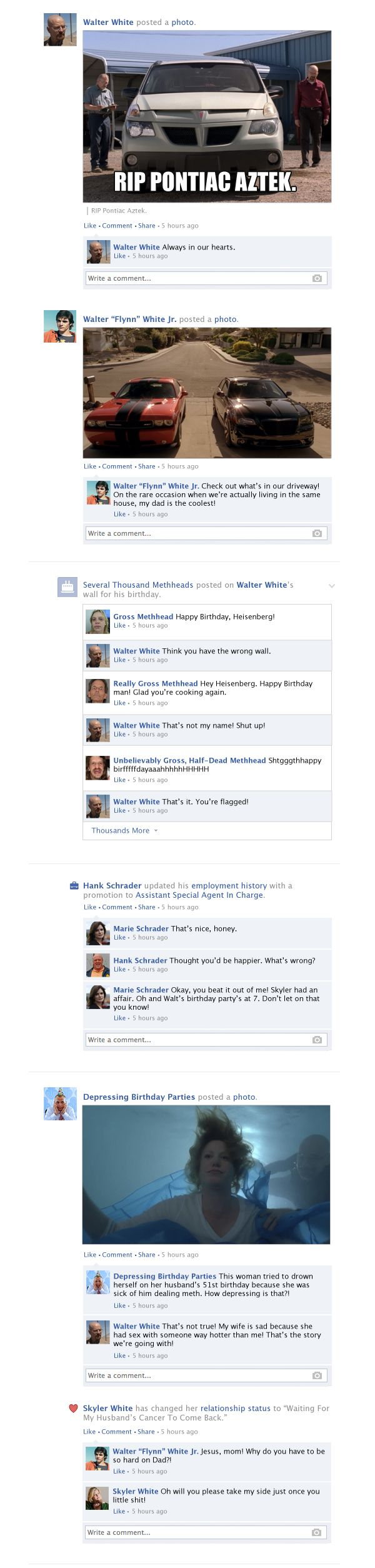 If Breaking Bad Took Place Entirely on Facebook (9 pics)