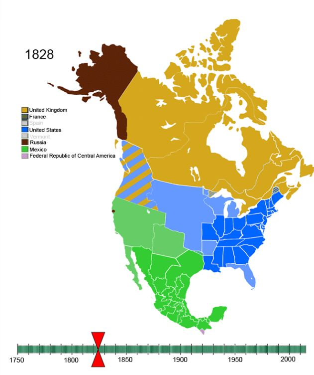 Animated Timeline of North American Colonization