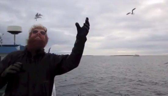 Fisherman Catches Bird Like a Boss