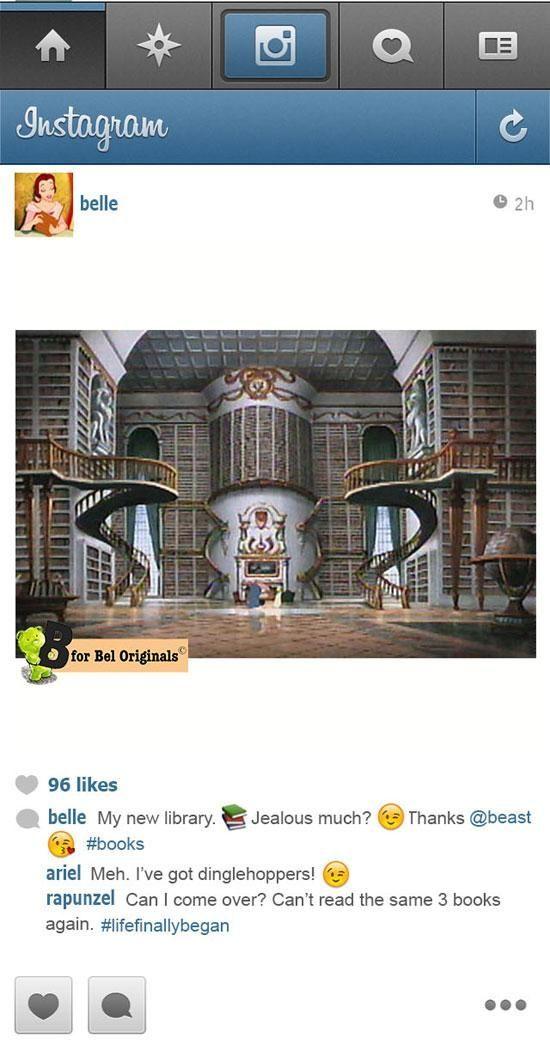 If Disney Princesses had Instagram… (11 pics)